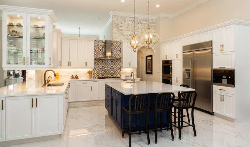 marble kitchen countertop